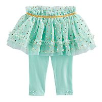 Baby Girl Baby Starters Foil Heart Tutu Leggings