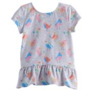 Toddler Girl Jumping Beans® Birdie Graphic Peplum Top