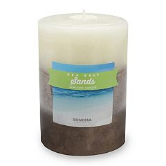 SONOMA Goods for Life™ Sea Salt Sands 3' x 4' Pillar Candle