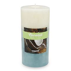 SONOMA Goods for Life™ Coconut Mojito 3' x 6' Pillar Candle