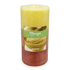 SONOMA Goods for Life™ Mango Margarita 3' x 6' Pillar Candle
