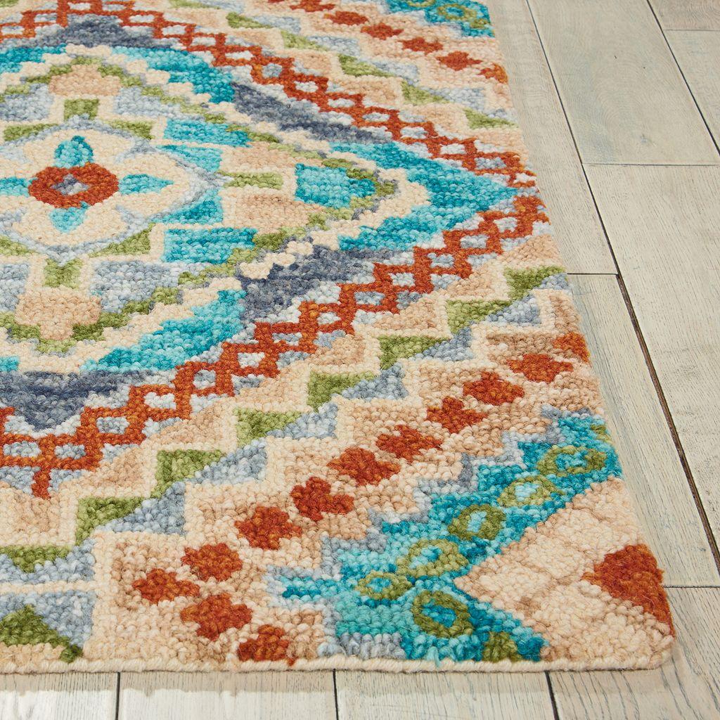 Nourison Vivid Medallion Wool Rug