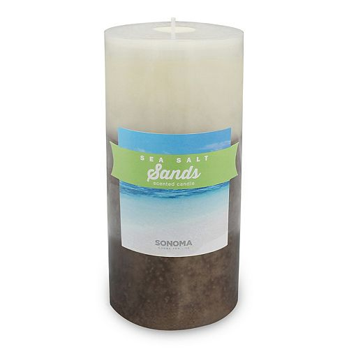 "SONOMA Goods for Life™ Sea Salt Sands 3"" x 6"" Pillar Candle"