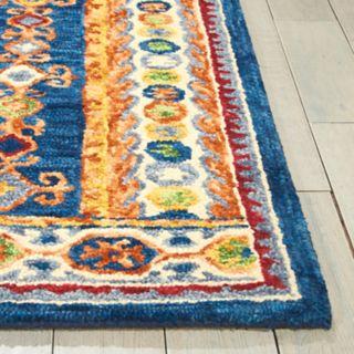 Nourison Vivid Framed Medallion Wool Rug