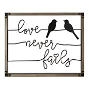 Belle Maison 'Love Never Fails' Birds Wall Decor