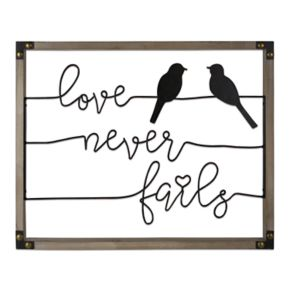 "Belle Maison ""Love Never Fails"" Birds Wall Decor"