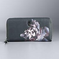 Simply Vera Vera Wang Signature Floral Zip-Around Wallet
