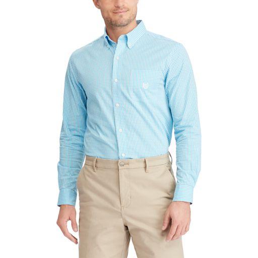 Big & Tall Chaps Easy Care Stretch Print Shirt
