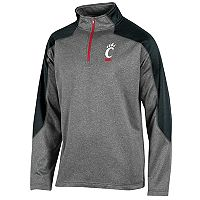 Men's Champion Cincinnati Bearcats Colorblock Quarter-Zip Top