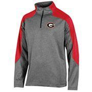 Men's Champion Georgia Bulldogs Colorblock Quarter-Zip Top
