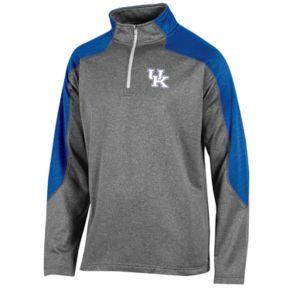 Men's Champion Kentucky Wildcats Colorblock Quarter-Zip Top