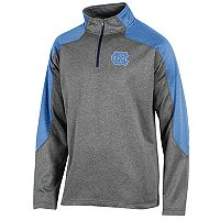 Men's Champion North Carolina Tar Heels Colorblock Quarter-Zip Top