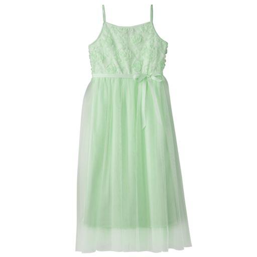 Girls 7-16 & Plus Size Lilt Soutache Flower Bodice Ballet Maxi Dress