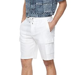 Men's Havanera Classic-Fit Elastic-Waist Linen-Blend Cargo Shorts