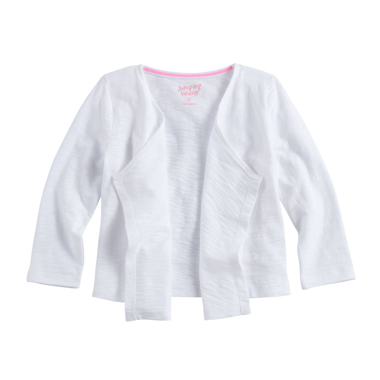 Toddler girls white dress sweaters