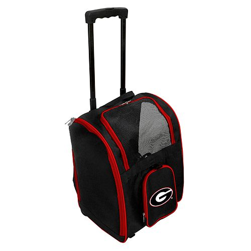 Mojo Georgia Bulldogs Wheeled Pet Carrier