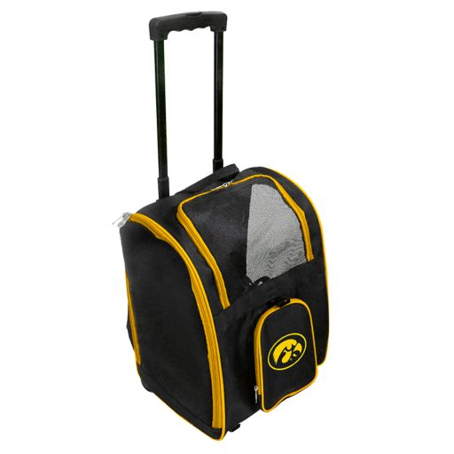 Mojo Iowa Hawkeyes Wheeled Pet Carrier