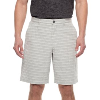 Men's Marc Anthony Slim-Fit Texture-Striped Flat-Front Shorts