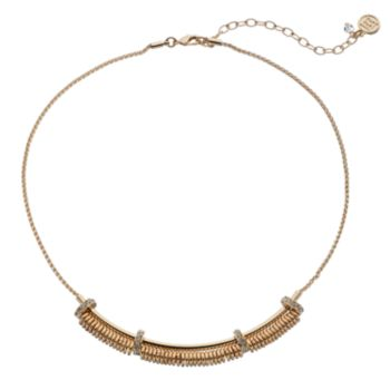 Dana Buchman Rondelle Curved Bar Necklace