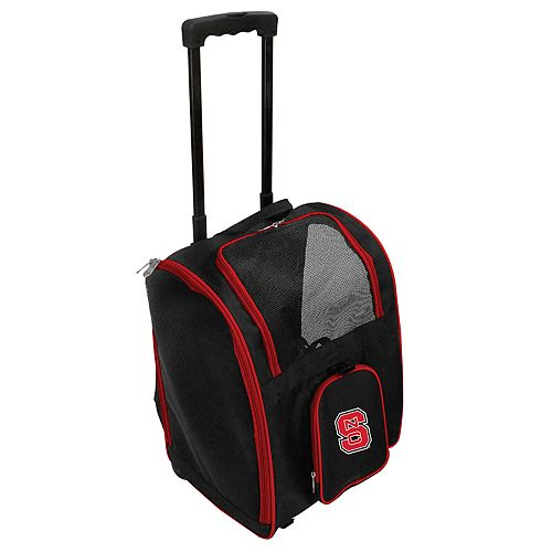 Mojo North Carolina State Wolfpack Wheeled Pet Carrier