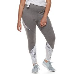 Juniors' Plus Size SO® Mesh Inset Yoga Leggings