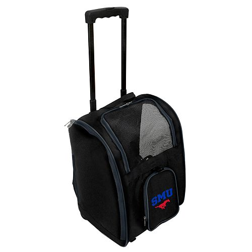 Mojo SMU Mustangs Wheeled Pet Carrier