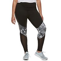 Juniors' Plus Size SO® Mesh Panel Yoga Leggings