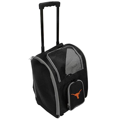 Mojo Texas Longhorns Wheeled Pet Carrier