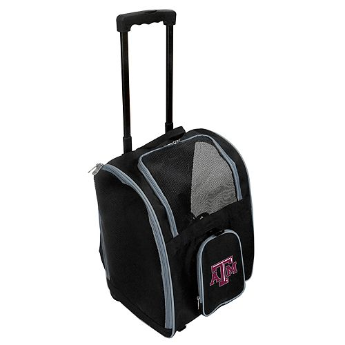 Mojo Texas A&M Aggies Wheeled Pet Carrier