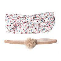 Baby Girl OshKosh B'gosh® 2-pk. Shimmer Plume Head Wrap Set