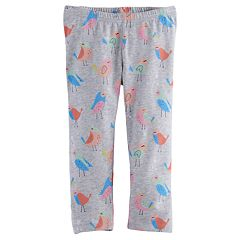 Baby Girl Jumping Beans® Printed Capri Leggings