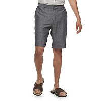 Men's Marc Anthony Slim-Fit Herringbone Linen-Blend Shorts