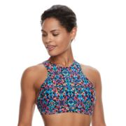 Women's TYR Carnivale Kira High-Neck Swim Crop Top