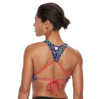 Women's TYR Carnivale Kira High-Neck Swim Crop Top