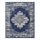 Nourison Grafix Distressed Vintage Medallion Rug
