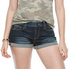 Juniors' SO® Cuffed Jean Shorts