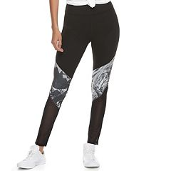 Juniors' SO® Mesh Panel Yoga Leggings