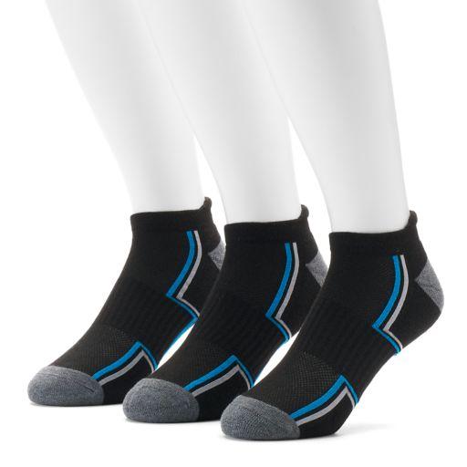 Men's Tek Gear® 3-pack Cushioned No-Show Tab Socks