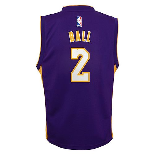 low priced 91adb 9b7ec Boys 8-20 Los Angeles Lakers Lonzo Ball Replica Jersey