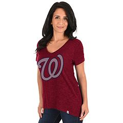 Women's Majestic Washington Nationals Check the Win Tee
