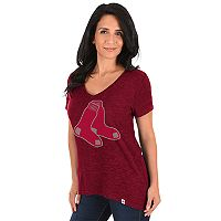 Women's Majestic Boston Red Sox Check the Win Tee