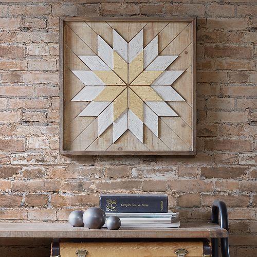 INK+IVY Solis Wood Wall Decor