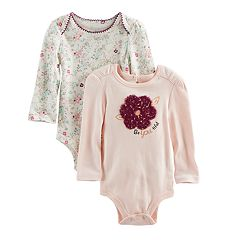 Baby Girl Baby Starters 2 pkFlower Print & 'Be-You-Tiful' Bodysuits