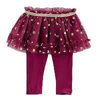 Baby Girl Baby Starters Foil Flower Tutu Leggings