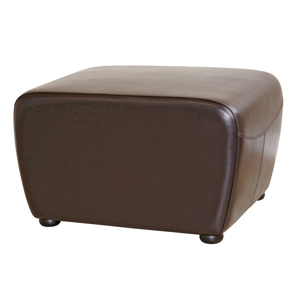 Baxton Studio Contemporary Faux-Leather Ottoman