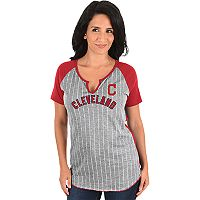 Women's Majestic Cleveland Indians From the Stretch Tee