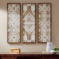 Madison Park Gabbie Wood Wall Decor 3-piece Set