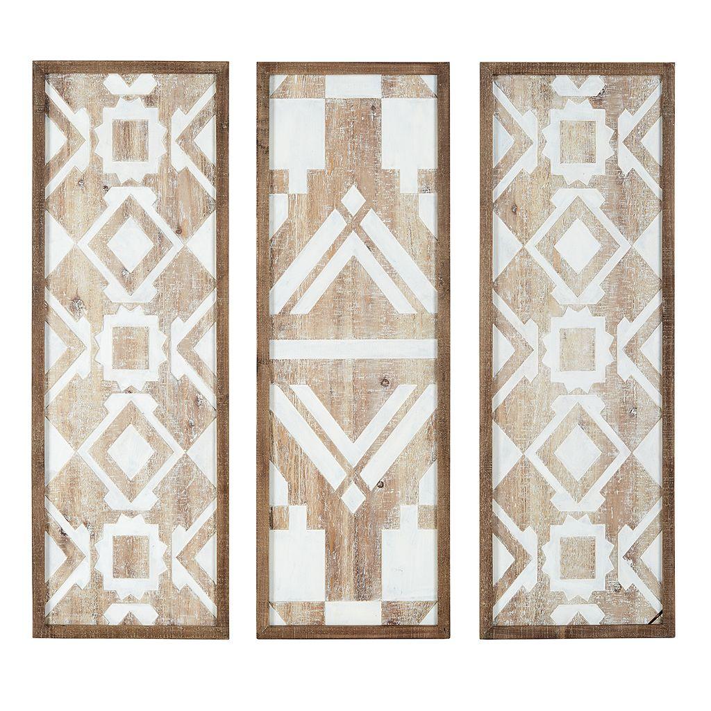 Madison Park Gabbie Wood Wall Decor 3-piece Set
