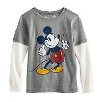 Disney's Mickey Mouse Boys 4-7x Mock Layer Softest Tee by Jumping Beans®