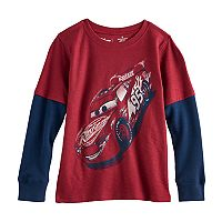 Disney / Pixar Cars Boys 4-7x Lightning McQueen Mock Layer Tee by Jumping Beans®